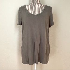 BKE Core Basic V-Neck Relaxed Fit T-Shirt Grey L